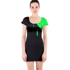 Abstraction Short Sleeve Bodycon Dress