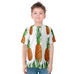 Pineapple Print Polygonal Pattern Kids  Cotton Tee