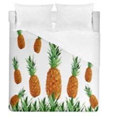 Pineapple Print Polygonal Pattern Duvet Cover (queen Size) by Nexatart