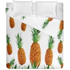 Pineapple Print Polygonal Pattern Duvet Cover Double Side (california King Size) by Nexatart