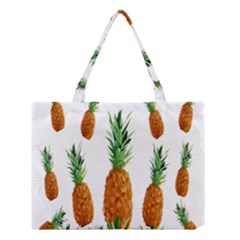 Pineapple Print Polygonal Pattern Medium Tote Bag by Nexatart