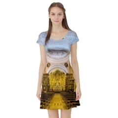 Church The Worship Quito Ecuador Short Sleeve Skater Dress by Nexatart