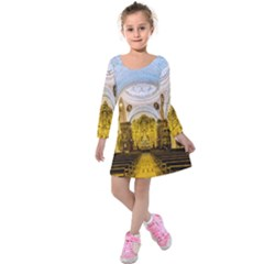 Church The Worship Quito Ecuador Kids  Long Sleeve Velvet Dress by Nexatart