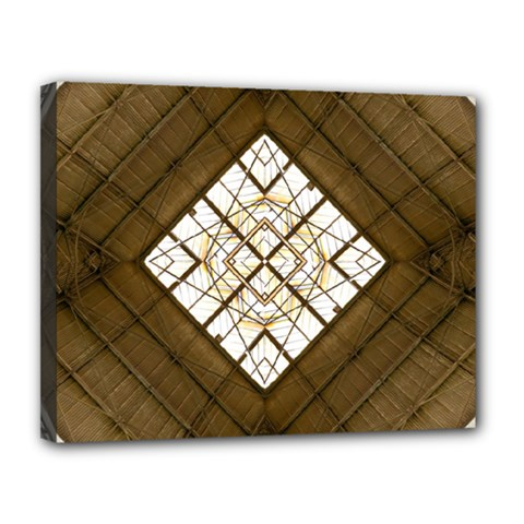 Steel Glass Roof Architecture Canvas 14  X 11  by Nexatart