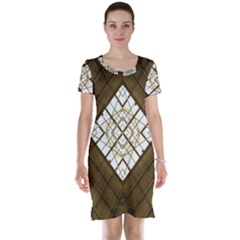 Steel Glass Roof Architecture Short Sleeve Nightdress