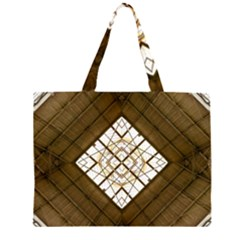 Steel Glass Roof Architecture Zipper Large Tote Bag by Nexatart