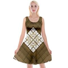 Steel Glass Roof Architecture Reversible Velvet Sleeveless Dress