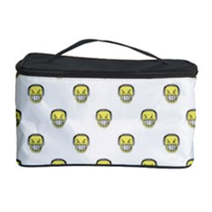 Angry Emoji Graphic Pattern Cosmetic Storage Case by dflcprints