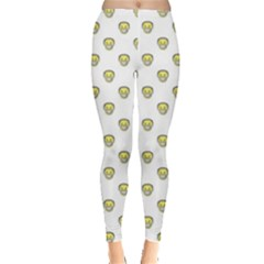 Angry Emoji Graphic Pattern Leggings  by dflcprintsclothing