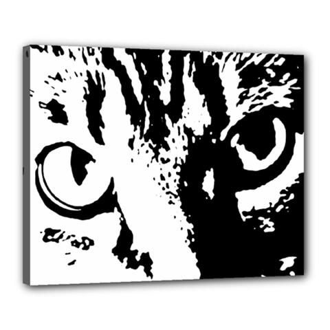 Cat Canvas 20  X 16  by Valentinaart