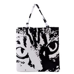 Cat Grocery Tote Bag by Valentinaart