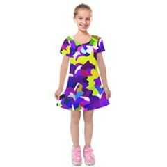 Classic New York City Kids  Short Sleeve Velvet Dress by BIBILOVER