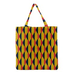 Triangles Pattern       Grocery Tote Bag by LalyLauraFLM