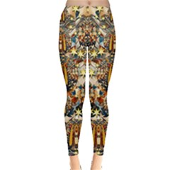 Lady Panda Goes Into The Starry Gothic Night Leggings  by pepitasart
