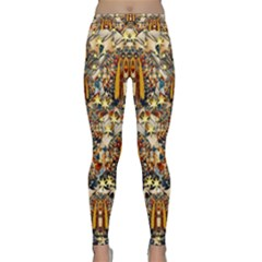 Lady Panda Goes Into The Starry Gothic Night Classic Yoga Leggings by pepitasart