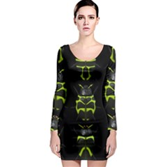 Beetles Insects Bugs Long Sleeve Bodycon Dress by Gogogo
