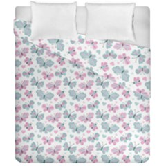 Cute Pastel Butterflies Duvet Cover Double Side (california King Size)