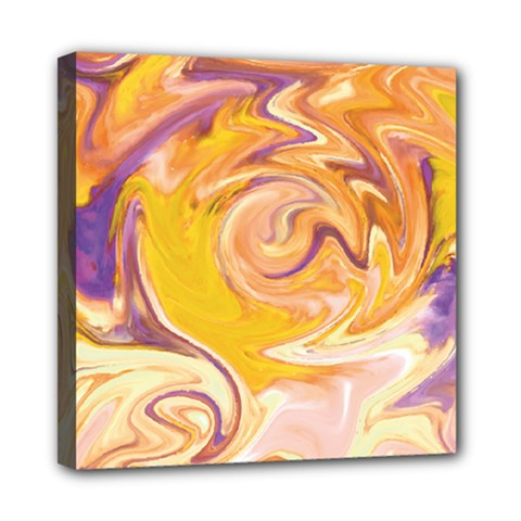 Yellow Marble Mini Canvas 8  X 8  by tarastyle