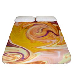 Yellow Marble Fitted Sheet (queen Size)