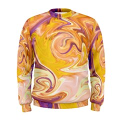 Yellow Marble Men s Sweatshirt by tarastyle