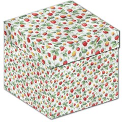 Strawberry Pattern Storage Stool 12   by Valentinaart