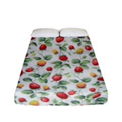 Strawberry Pattern Fitted Sheet (full/ Double Size) by Valentinaart