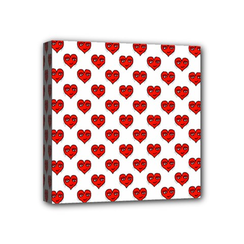 Emoji Heart Shape Drawing Pattern Mini Canvas 4  X 4  by dflcprints