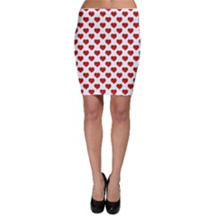 Emoji Heart Shape Drawing Pattern Bodycon Skirt by dflcprintsclothing