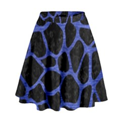 SKN1 BK-MRBL BL-BRSH (R) High Waist Skirt by trendistuff