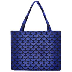 Scales3 Black Marble & Blue Brushed Metal (r) Mini Tote Bag by trendistuff