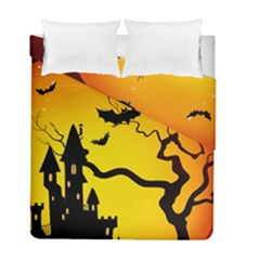 Halloween Night Terrors Duvet Cover Double Side (Full/ Double Size) by Gogogo