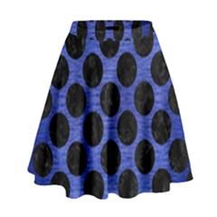 CIR2 BK-MRBL BL-BRSH (R) High Waist Skirt by trendistuff