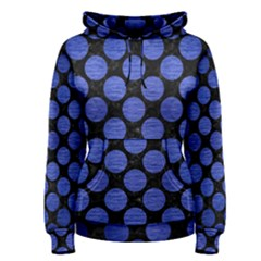 Circles2 Black Marble & Blue Brushed Metal Women s Pullover Hoodie by trendistuff