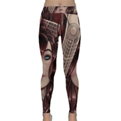 Beautiful Women Fantasy Art Classic Yoga Leggings by Gogogo