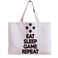 Eat Sleep Game Repeat Zipper Mini Tote Bag by Valentinaart
