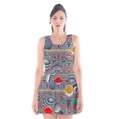 Changing Forms Abstract Scoop Neck Skater Dress by theunrulyartist