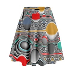 Changing Forms Abstract High Waist Skirt by theunrulyartist