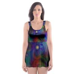 Full Colors Skater Dress Swimsuit