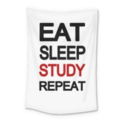 Eat Sleep Study Repeat Small Tapestry