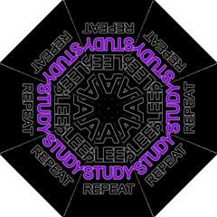 Eat Sleep Study Repeat Hook Handle Umbrellas (medium) by Valentinaart