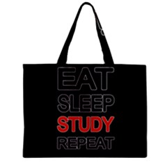 Eat Sleep Study Repeat Zipper Mini Tote Bag by Valentinaart