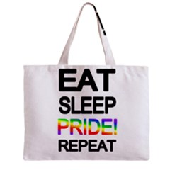 Eat Sleep Pride Repeat Zipper Mini Tote Bag by Valentinaart