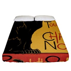 Black Cat Fitted Sheet (queen Size) by Valentinaart