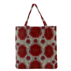 Paint On Water Falls,in Peace And Calm Grocery Tote Bag by pepitasart