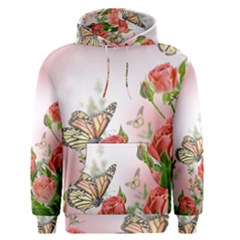 Flora Butterfly Roses Men s Pullover Hoodie