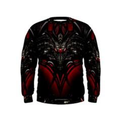 Black Dragon Grunge Kids  Sweatshirt