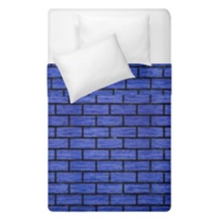 Brick1 Black Marble & Blue Brushed Metal (r) Duvet Cover Double Side (single Size) by trendistuff