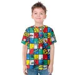 Snakes And Ladders Kids  Cotton Tee by Gogogo