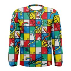 Snakes And Ladders Men s Long Sleeve Tee by Gogogo