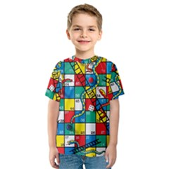 Snakes And Ladders Kids  Sport Mesh Tee by Gogogo